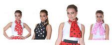 Ladies Girls Polka Dot 50's Luxury Grease Neck Tie Style Head Polka Scarf