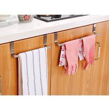 Towel Rail Bar Holder Kitchen Over the Door Cabinet Storage Hanger Hook