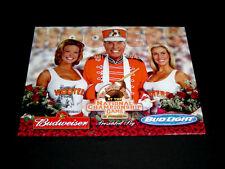 Hooters 2001 Rose Bowl National Championship Poster Budweiser Beer Football VTG