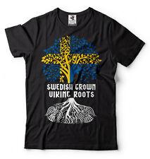 Swedish Viking T-shirt Sweden Viking Tee Shirt Viking heritage Swedish Grown Tee