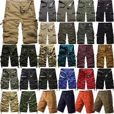 Herren Bermuda Cargo Shorts Kurzhose Army Baumwolle Kurze Chino Hose Größe 29-40