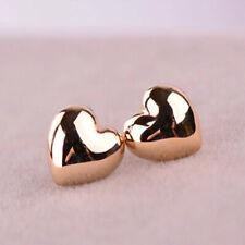 1 Pair Cute Simple Heart Shape Vintage Glossy Stud Women's Earring Push Back