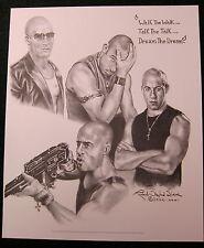 Xxx - Vin Diesel - Triple X Robert Stephen Simon Lithograph