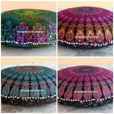 Indian Mandala Round Floor Pillows Meditation Bohemian Cushion Cushions Cover