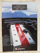 VAUXHALL Astra GSi 1.8i 16V UK Market brochure 1993 - GTE interest