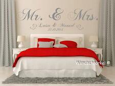 Wandtattoo Mr.und Mrs. + art.19106 personalisiert Namen und Datum+Schlafzimmer