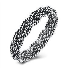 "NEW Sterling Silver 925 ""BRAID TWIST"" DESIGN RING SIZES 6-12"