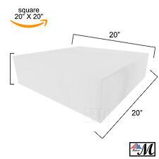 "Medium Upholstery Foam 20"" X 20"" Square Cushion Seat Replacement Sheet Padding"