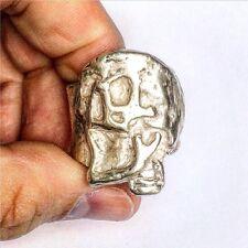 Mens Skull Ring. Men's Silver Skull Biker Ring. Handcrafted | LUGDUN ARTISANS
