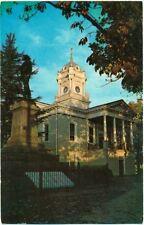 c. 1960s MORGANTON, NC, BURKE COUNTY COURTHOUSE VIEW POSTCARD