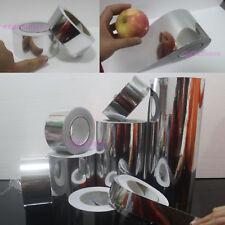 Beauty Tape - PVC Adhesive Glossy Mirror Chrome Vinyl Wrap Sticker Silver - AB