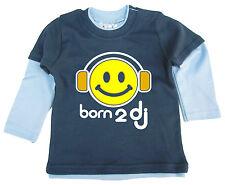 """Dirty Fingers mignon bébé Haut Patineuse """"Born to DJ"""" Musique Casque"""