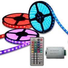 15M 20M 25M 30M 5050 RGB LED Strip Light Flexible RF wireless Remote w/ 12V PSU