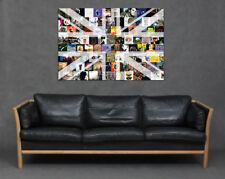 Best of British Music Scene Canvas Print Wall Art Rock Indie Lover Album Covers
