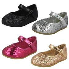 Spot On Filles Paillette Lanière Chaussures Ballerine