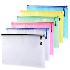 A4 Plastic Wallet Document Wallets  Zip Lock Bags Plastic Pockets with Zipper