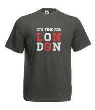 ITS TIME FOR LONDON DESIGN 100% COTTON CREW NECK SHORT SLEEVE FOTL T SHIRT
