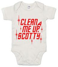 "Star Trek Body ""limpio Me Up Scotty"" haz me up Babygrow gracioso Ropa para Bebé"