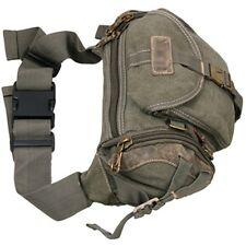 NEW Men's Women's Canvas Handbag Shoulder Chest Bumbag Fanny Pack Belt Waist Bag