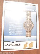 Articolo ritaglio pubblicità A4 orologio Longines dimensione conquest VHP v.h.p.