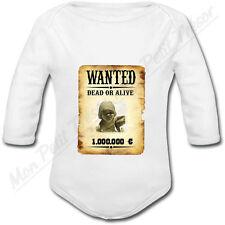 Body Bébé Cadre Photo Affiche Wanted Western personnalisé avec votre photo