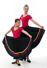Chicas Amarillo Rojo Azul Cinta Rad carácter Falda Danza Ballet Todos Los Tamaños De Katz
