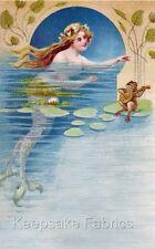 Frog Serenades Mermaid Quilt Block Multi Sizes FrEE ShiPpinG