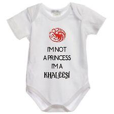 BODY tutina bimbo neonato DM20 I'm Not a Princess I'm a Khaleesi 100% cotone