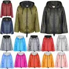 Girls Boys Raincoats Jackets Cagoule Lightweight Jacket Hooded Rain Mac 5-13 Yr