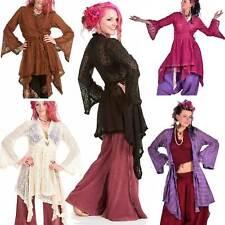 Ibiza Wrap Jacket, Pagan Gypsy Boho Kimono Vintage-Style Lace Beach Hippy Top