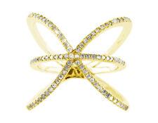 Natural 0.6Ct Round Diamond Right Hand Ring Wedding Band Ring 14K Gold