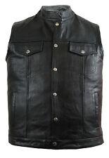 Motard en cuir veste en jeans ouest Look clubweste Blouson rocker gilet messieurs Chopper