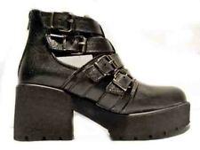 53z pronto moda stivaletto donna aperto ai lati con tacco woman shoes vitello ne