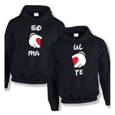 """Coppia di Felpe Love per Uomo e Donna Maglioni Personalizzati """"Soul Mate"""""""