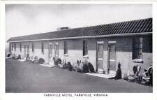 c. 1950 FARMVILLE, VA, FARMVILLE MOTEL POSTCARD