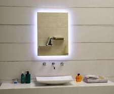 Badspiegel LED Spiegel GS084N mit Beleuchtung durch satinierte Lichtflächen IP44