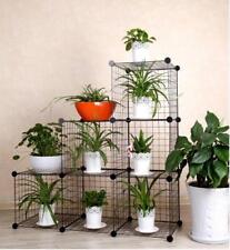 DIY Outdoor Indoor Planter Stand FloGarden Metal Flower Book Shelves 1,2,3 Tier