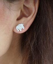 Elephant Stud Earrings, Origami Elephant Stud Earrings, Cute Animal Studs, Fun
