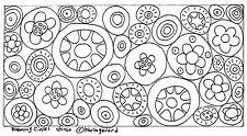 RUG HOOK CRAFT PAPER PATTERN Blooming Circles FOLK ART PRIMITIVE Karla Gerard