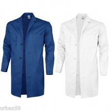Berufsmantel Kittel Arbeitskittel kornblau weiß Baumwolle Übergröße Gr.66,68