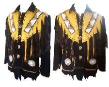 Hommes Cowboy Native American Frange Daim Veste en Cuir Western Wear années 1980 style
