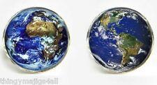 2 TYPES WORLD MAP RETRO CUFFLINKS SHIRT HISTORY GEOGRAPHY TEACHER STEAMPUNK