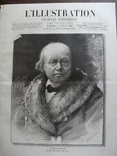 L'ILLUSTRATION 1885 N 2214 M.MILNE EDWARDS: NATURALISTE