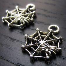 Spiderweb Halloween Cobweb Wholesale Charm Pendants C3446 - 10, 20 Or 50PCs