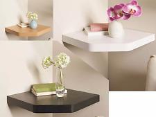 Floating Corner Shelves White Gloss Black Wood Oak Effect contemporary style