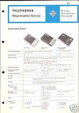 Telefunken Original Service Manual für M cc nova ts/FM
