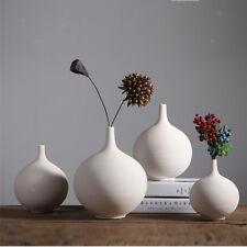 White Ceramic Vase Home Decor Ikebana Flower Vase Wedding Ornament Solid White