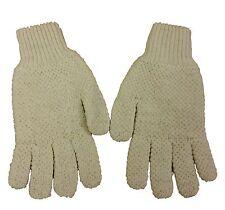 Mens/Ladies/Child  HUNTING RIDING  GLOVES Oiled British Aran Wool Cream XXS-XXL