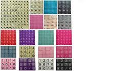 Nuevo Fichas de Scrabble Set piezas del Juego opciones Plástico Madera 100 -1000
