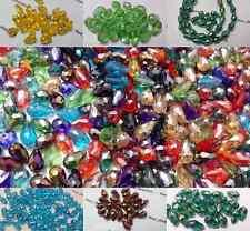 25 A GOCCIA BRIOLETTE SFACCETTATE VETRO taglio cristallo Perline per Gioielli artigianato
